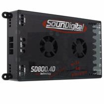 Módulo Amplificador Sd800.4 800w Rms 4 Canais 2 Ohms Stereo