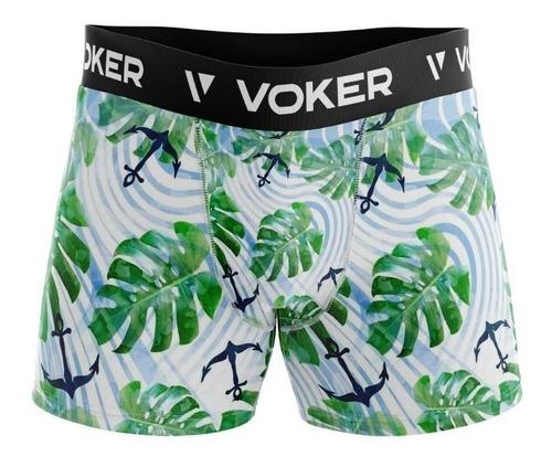 Kit 10 Cuecas Boxer Elástico Bordado Original - Polo Voker