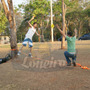 Kit Slack Line Jump Cinta 9 Metros X 50mm P/ 3 Ton + Catraca