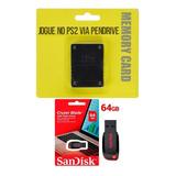 Memory Card + Opl, + Pendrive 64 Gb + Jogos + Frete Grátis!