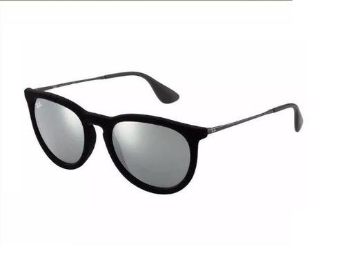 1beef78e7 Óculos Ray Ban Erika Preto Veludo Espelhado Original