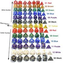 2x Kits De 7 Dados Para Rpg Com 14 Dados D&d Perolizados !!!