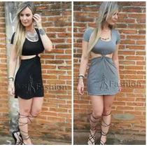 Vestido Nó Nozinho Blogueira Coleção Panicat Curto Tendência
