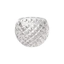 Vaso Bowl Pigna Lux Pequeno Transparente Em Vidro - 10x8 Cm