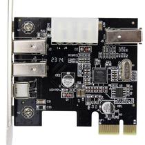 Placa Pci-e Firewire Ieee 1394 3+1p Pci-express Low Profile