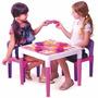 Mesa Mesinha Infantil Multiatividades Debbie C/ Cadeiras