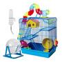 Gaiola Hamster 3 Andares Com Tubos Completa Com Bebedouro Original
