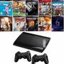 Playstation 3 Ps3 C  55 Jogos Frete Grátis 2 Controles Sony