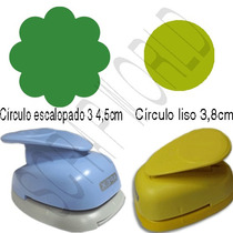 Furador Círculo Escalopado Mod 3 4,5cm + Círculo Liso 3,8cm