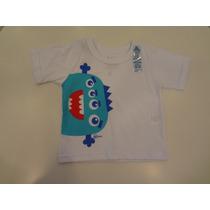 Camiseta Praia Monstrinho Manga Curta - Cara De Criança