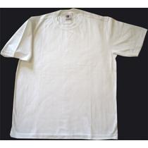 Camiseta Branca 100% Algodão Fio 30 Penteado P/silk