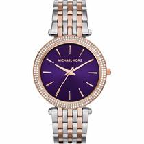 Relógio Feminino Michael Kors Prata/rose Mk3353 Promocional
