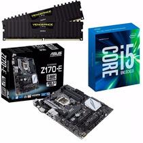 Kit Placa Mãe Asus Z170-e + Intel Core I5 6600k + 8gb Ddr4!!