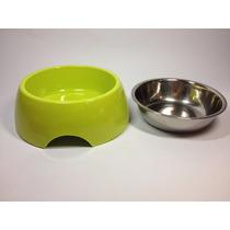 Tigela Inox Água Ração Prato Cachorro Cães Gatos - G