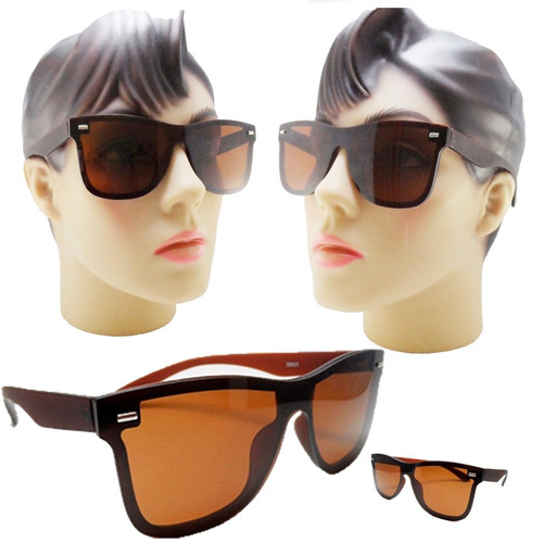 Oculos De Sol Para Rosto Redondo Feminino Mascara Marrom. R  49 68eaa4386c