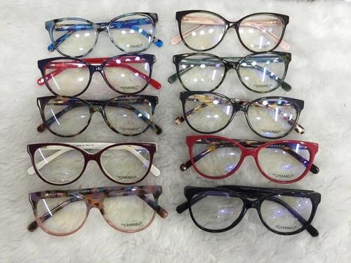 c182fde3c Óculos Armação De Grau Chanel Gatinho Redondo Frete + Brinde à venda ...