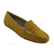 Sapato Mocassim Feminino Facinelli 61701 Amarelo . Nova C