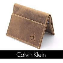 Carteira Masculina Pequena Calvin Klein Ck Couro Original