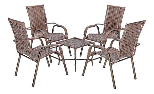 Conjunto Cadeira Poltronas Cadeiras Jogo Varanda Fibra Junco