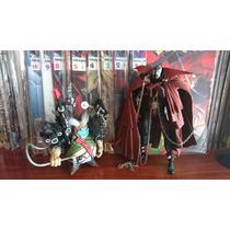 Spawn Com Violador E Hqs Mensais Dc Direct Marvel Legends