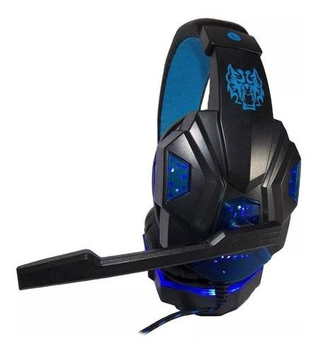 Fone De Ouvido Gamer Exbom Hf-g390p4 Azul E Led