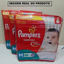 Pacote De Fralda Pampers Supersec Jumbo Pack M 288 Unidades
