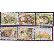 Camboja Série Selos Cat 1313/18 Tema Fauna Felinos