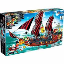 Blocos De Montar Banbao Pirata Navio Invencível - 850 Peças