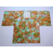 Kimono Japonês De Seda, Michiyuki /3 Original, Espléndido!!