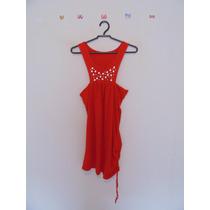 Blusa Feminina Vermelha Malha Detalhes Metalizados Cód. 459