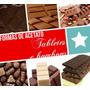 Kit 5 Formas De Acetato P/chocolate Tabletes/bombons P/ Enc.