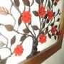 Quadro Painel Rosas M170 Alto Padrao Ferro Estilo Colonial