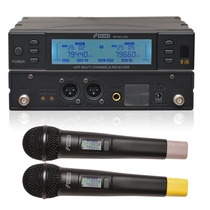 Sj Arcano Microfone Sem Fio Duplo Uhf 2 Mics Arwx2180