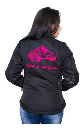 c175d783 Jaqueta Colete Blusa Feminina Cavalo Crioulo Selaria Cabanha