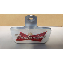 Abridor De Garrafas Parede Fixo Em Inox Cerveja Budweiser