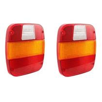 02 Lente Lanterna Traseira Caminhão Ford / Vw (marmitão)