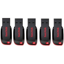 Kit 5 Pen Drive 16gb Sandisk Original Lacrado Pronta Entrega