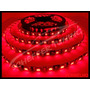 Fita Led Vermelho Leds 5050 C/fundo Preto 12v Impermeável