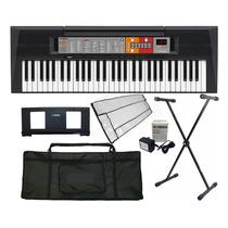 Kit Teclado Arranjador Musical Psr-f50 Yamaha C/ Fonte + Nfe