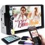 Central Multimídia Mp5 2din 7 Espelhamento Bluetooth Usb Fm