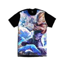 Dragon Ball Z Vegeta Geek Camiseta Anime Personalizada