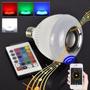 Lâmpada Led 6w Music Rgb Caixa De Som Bluetooth + Contro