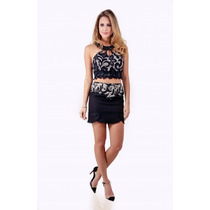 Top Cropped Renda Avizo Wear