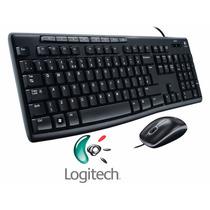 Kit Teclado E Mouse Usb Logitech Mk200 - Garantia 3 Anos !
