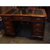 Mesa Escrivaninha Inglesa-madeira De Lei Maciça