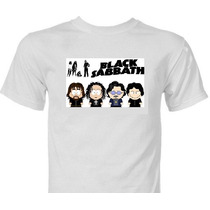 Camiseta Black Sabbath South Park Camisa Metallica Acdc Ozzy