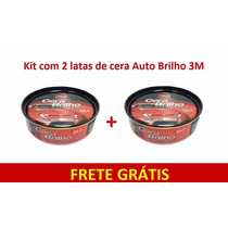 Cera Auto Brilho C/ Silicone E Carnaúba 3m - Kit 2 Latas