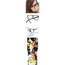 70f27952b Kit 3 Armação Nerd Retrô Grande Para Óculos De Grau - Preta à venda ...