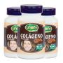 3 Frascos Colágeno Hidrolisado Com Vitaminas 60cápsulas Cada