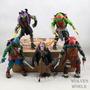 Tartarugas Ninjas + Mestre Splinter  5 Bonecos Articulados